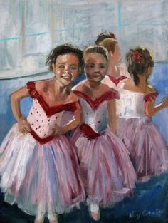AFter the Ballet Recital by Missouri Artist Kay Crain, painting by artist Kay Crain