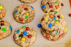 chewy oatmeal m cookies. mmm could you imagine these with peanut butter M's
