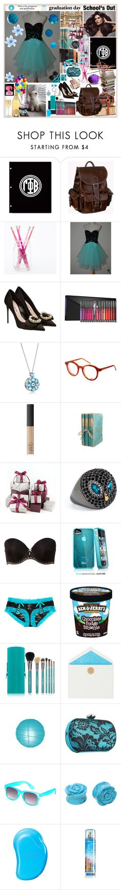 """graduation day"" by angelihenkle ❤ liked on Polyvore featuring AmeriLeather, Miu Miu, Kat Von D, Chanel, Spitfire, NARS Cosmetics, Alex Monroe, Juicy Couture, b.tempt'd by Wacoal and Sigma"