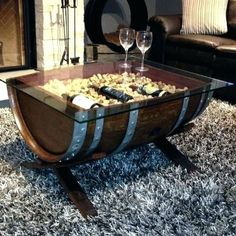 table: Wine Barrel Ideas Fancy Coffee Table On Perfect Home Decorating With Diy: Barrel Coffee Table Coffee Table Plans, Coffee Tables For Sale, Diy Coffee Table, Diy Table, Leaf Table, Whiskey Barrel Coffee Table, Wine Barrel Table, Wine Barrel Furniture, Whiskey Barrels