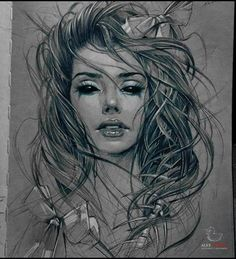 Fascinating drawing works by Russian Artist Alex Sorsa.