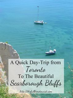 All it took was a single Instagram photo to convince me that I needed to go to the Scarborough Bluffs this summer. The dramatic view of these chalk-y cliffs towering over the teal-blue waters of Lake Ontario is one that I've never seen anywhere else in Toronto- or in the world, for that matter. So naturally, I've made a quick day-trip guide so you can see it in person too!  Have you ever been to the Scarborough Bluffs?