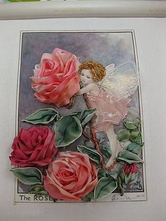 Rose Fairy flower fairy with ribbon embroidery