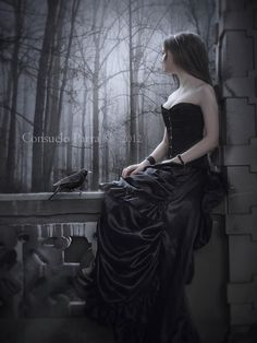 Waiting for her dark prince to arrive.
