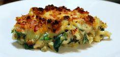 Chicken chorizo spinach pasta bake