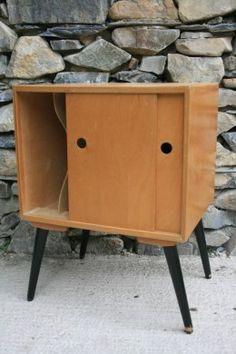 Upcycled 1950's Vinyl Record Cabinet   Interior   Pinterest ...