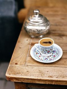 Coffee in Istanbul. My mug/teacup obsession now extends to Turkish #coffee cups.