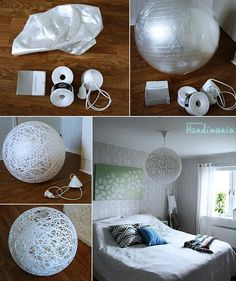 DIY - Make your own stringy lamp