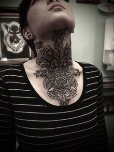 The #neck is one of the soft parts of the body, so it requires great attention and experience to place tattoo in this region. The neck #tattoo #designs are always in trend. The simple and #small #neck tattoo design looks absolutely stylish and attractive on both boys and girls.