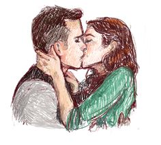 The Lizzie Bennet Diaries  Lizzie and Darcy colored.