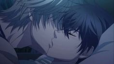 Super lovers kiss haru and ren