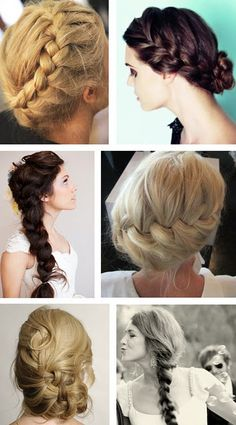 Love these braided hairstyles-- found on A bit of bees knees blog!