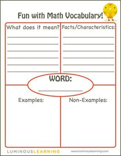 math worksheet : teaching math vocabulary  math vocabulary math and free printable : Math Vocabulary Worksheet