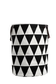 Triangle Laundry Basket - Black