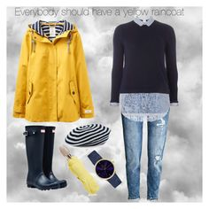 It's raining again by valerie-42 on Polyvore featuring polyvore, fashion, style, Dorothy Perkins, Joules, Hunter, Sonia Rykiel, Furla and clothing