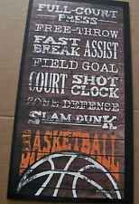 Rustic Primitive Country WOOD BASKETBALL Sayings Sport Sports Art Wood Sign
