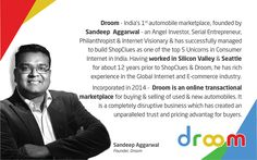 An Entrepreneurial Journey Of Sandeep Aggarwal, founder of ShopClues & Droom Source: droom.in design Digital Marketing Strategy, Digital Marketing Services, Communication Design, Design Agency, Web Development, Seo, Web Design, Journey, Business