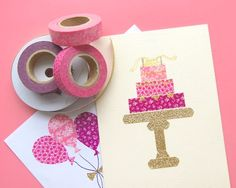 Greeting Card | Pink Patterns | Washi Tape | DIY Project | Home Decor | Craft Idea