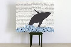 Whale Collage Breaching Humpback Whale over by FiddleheadsForFiona, $28.00