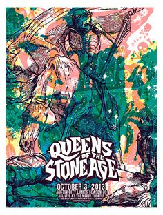 Queens Of The Stone Age Austin City Limits Poster by Jared Conner & Mark Pedini