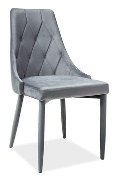Scaun tapitat Trix Velvet Grey #homedecor #katup #velvet #chairs #elegance #lux #livingroom #livingroomdecor #decor #homedesign #interiordesign Living Room Decor, Accent Chairs, Dining Chairs, Velvet, House Design, Interior Design, Elegant, Modern, Stuff To Buy