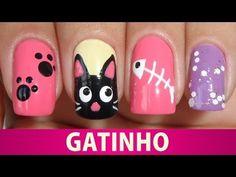 ▶ Unhas Decoradas de Gatinho - YouTube