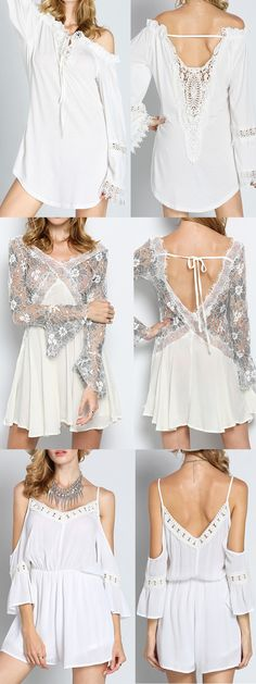 Dreaming white boho style! Love so much! Click romwe.com now, get 60% off 1st order!