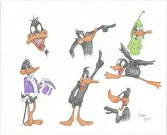 Model sheet of Daffy Duck by Virgil Ross