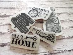 Rubber Cling Stamp Destash Set // Scrapbooking by MarksOnMyHeart, $3.00