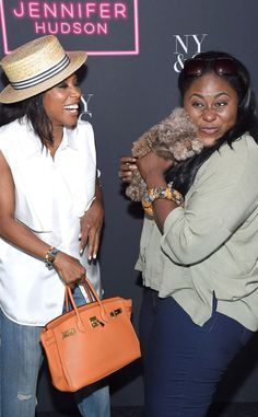 New York & Coompany Soho Jeans Launch Event from Party Pics: New York  Celebrity stylist June Ambrose and Orange Is the New Black star Danielle Brooks party with a furry friend at Marquee.