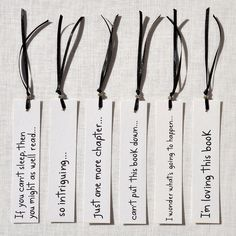 bookmark ideas. Great for gift toppers.