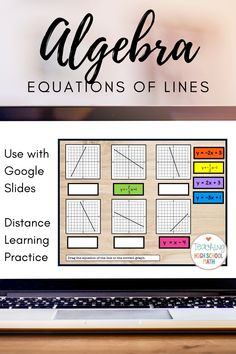 Algebra Writing Equations of Lines - Digital This set will help your students practice writing equa Algebra Lessons, Algebra Worksheets, Math Lesson Plans, Algebra 1, Math Teacher, Math Classroom, Teaching Math, Google Classroom, Math Work