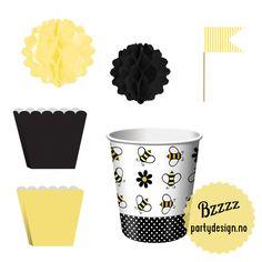 http://partydesign.no #bee #bursdag #partydesign #gul #svart #bzzz