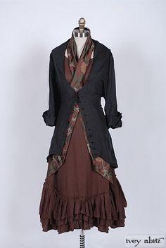 Ivey Abitz 2014 Fall Look No. 47. Henrietta Duster Coat, Anabel Frock and Fairholme Sash