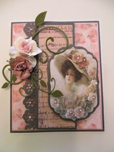 """Vintage Birthday card--use the old-timey prints like the ones under """"Print It"""""""