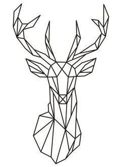 Geometric Deer Head Wall Sticker Geometry Animal Series Decals 3D Viny – Luxberra