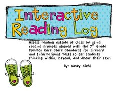 Give your grade students meaningful homework where they can read a fiction or non-fiction text of their choice and apply a wide-variety of reading prompts to the section of the text they read each night. Reading Resources, Reading Strategies, Teaching Reading, Teaching Ideas, Teaching Tools, Reading Comprehension, Reading Skills, Reading Record, Reading Logs