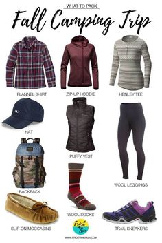 What to Pack for a Fall Camping Trip, from base layers to accessories