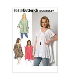 Butterick Pattern B6215-0Y0-Misses' Top-Xs-S-M