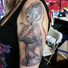 """My new tattoo from Sarah Miller - Tattoos, Illustration, Art! Original art by Stanley Lau"" - Liz Cook"