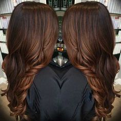 Dark Brown Balayage Brunette Hair Colour