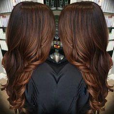 Dark Brown Balayage Brunette Hair Colour