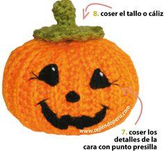 Cómo tejer calabazas de halloween a crochet - crochet halloween pumpkins
