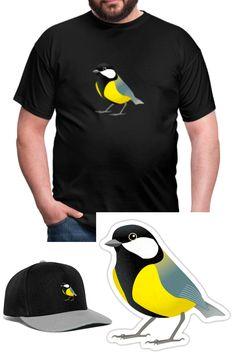 Jetzt gibts auch Sticker zu bestellen! Diverse Motive, 10 x 10 cm.   #Shirt #tshirt #Vogel #Sticker #cap #shop #bestellen #Bekleidung #bedrucken #print #Kohlmeise #Hoodie #spreadshirt #personalisieren #customize #illustretor #farbe #bird