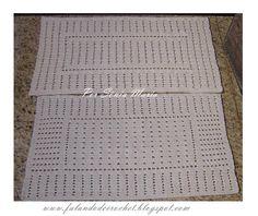 Falando de Crochet - Gráficos: TAPETE DE CROCHE FILÉ SORAYA