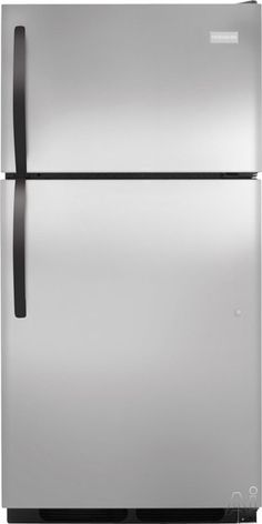 Frigidaire FFHT1513PS 14.8 cu. ft. Top Freezer Refrigerator with 2 Sliding Wire Shelves, Store-More Gallon Door Bins, Full-Width Freezer Rack and Ready-Select Controls: Stainless Steel