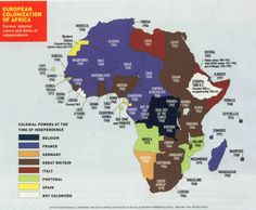 Africa - Former colonial rulers and dates of independence