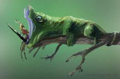 unusual unicorn, Mário Fernandes on ArtStation at https://www.artstation.com/artwork/k4wV6