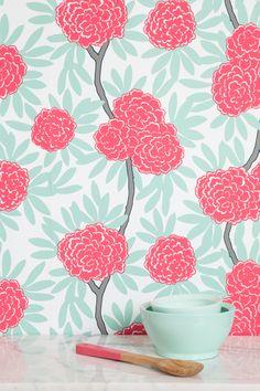 Caitlin Wilson | Mint Fleur Chinoise Wallpaper