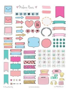Free PDF Planner Printable Stickers That'll Make Your Bullet Journal Mor. Free PDF Planner Printable Stickers That'll Make Your Bullet Journal More Functional Free Planner, Planner Pages, Planner Doodles, Planner Diy, Planner Supplies, Planner Inserts, Budget Planner, Planner Ideas, Bullet Journal Ideas Pages